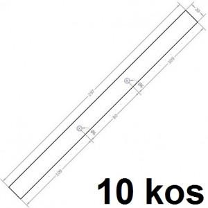 TRAK ZA VPENJANJE PROJEKTOV 297x20mm 2mm 10/1