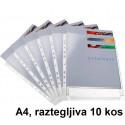 VLOŽEK A4 RAZTEGLJIV 0,11mm  KLIPKO 10/1