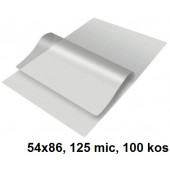 ŽEPKI ZA PLASTIFICIRANJE KLIPKO 54x86mm 125mic 100/1