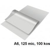 ŽEPKI ZA PLASTIFICIRANJE KLIPKO A6 154x111mm 125mic 100/1