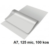 ŽEPKI ZA PLASTIFICIRANJE KLIPKO A7 80x110mm 125mic 100/1