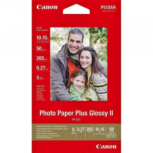 FOTO INK JET PAPIR CANON PP-201 HIGH GLOSSY PHOTO 10x15cm 265g 2311B003BA 50/1