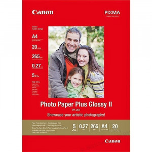 FOTO INK JET PAPIR CANON PP-201 HIGH GLOSSY PHOTO A4 265g 2311B019BA 20/1