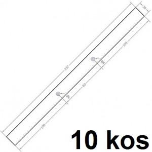 TRAK ZA VPENJANJE PROJEKTOV 297x20mm 1mm 10/1