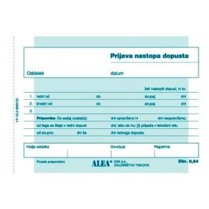 OBRAZEC PRIJAVA NASTOPA DOPUSTA A6 ALEA 0.54
