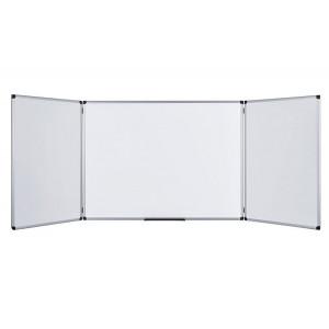 TRIDELNA BELA MAGNETNA TABLA PIŠI BRIŠI BI-OFFICE MAYA TRIO 60x90-180cm