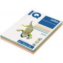 PAPIR BARVNI IQ COLOR A4 160g PASTELNE BARVE MIX 100/1
