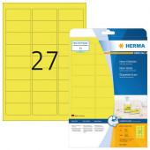 BARVNE ETIKETE HERMA 5140 63,5x29,6 NEON RUMENE 20/1