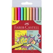 FLOMASTRI FABER CASTELL COLOUR GRIP NEON+PASTEL  1/10