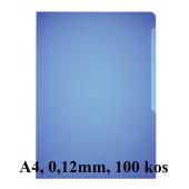 BARVNA L MAPA A4 0,12mm HRAPAVA DURABLE 2337 100/1 MODRA