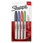 MARKER SHARPIE FINE BASIC SET 4/1
