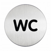 TABLICA PIKTOGRAM WC 83mm DURABLE 490723