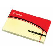 SAMOLEPILNI LISTKI OPTIMA 75x125 RUMENI 100/1