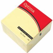 SAMOLEPILNA KOCKA OPTIMA 75x75 RUMENA 1/450