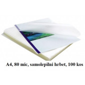 SAMOLEPILNI ŽEPKI ZA PLASTIFICIRANJE KLIPKO A4 216x303mm 80mic 100/1