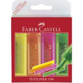 SET TEKSTMARKERJEV FABER CASTELL 1546 NEON SET 4/1