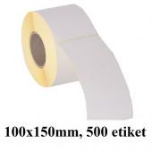 TERMO ETIKETE EKO V ROLI 100x150mm 40mm/127mm 500/1
