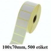 TERMO ETIKETE EKO V ROLI 100x70mm 40mm/127mm 500/1