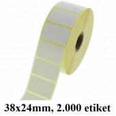 TERMO ETIKETE EKO V ROLI 38x24mm 40mm/105mm 2000/1