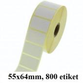 TERMO ETIKETE EKO V ROLI 55x64mm 40mm/105mm 800/1