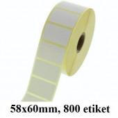 TERMO ETIKETE EKO V ROLI 58x60mm 40mm/104mm 800/1