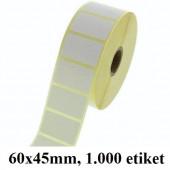 TERMO ETIKETE EKO V ROLI 60x45mm 40mm/104mm 1000/1