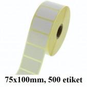 TERMO ETIKETE EKO V ROLI 75x100mm 40mm/105mm 500/1