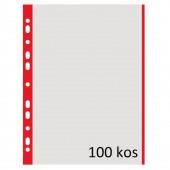 VLOŽEK A4 0,04mm DONAU RDEČ ROB 100/1