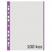 VLOŽEK A4 0,04mm DONAU VIJOLIČEN ROB 100/1
