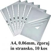 VLOŽEK A4 0,06mm ZGORAJ/STRANSKO HRAPAV DURABLE 10/1