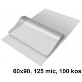 ŽEPKI ZA PLASTIFICIRANJE KLIPKO 60x90mm 125mic 100/1