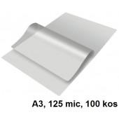 ŽEPKI ZA PLASTIFICIRANJE KLIPKO A3 125mic 100/1