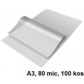 ŽEPKI ZA PLASTIFICIRANJE KLIPKO A3 80mic 100/1