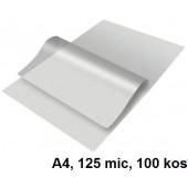 ŽEPKI ZA PLASTIFICIRANJE KLIPKO A4 125mic 100/1