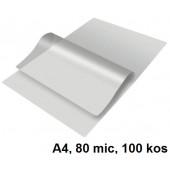 ŽEPKI ZA PLASTIFICIRANJE A4 KLIPKO 216x303mm 80mic 100/1