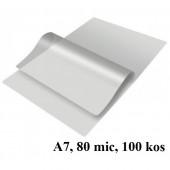 ŽEPKI ZA PLASTIFICIRANJE KLIPKO A7 80x110mm 80mic 100/1