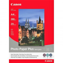 FOTO INK JET PAPIR CANON SG-201 SEMI GLOSSY PHOTO A4 260g 1686B021AA 20/1