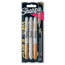 MARKER SHARPIE FINE METALIC SET 3/1