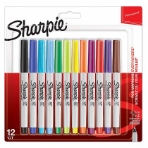 MARKER SHARPIE ULTRA FINE SET 12/1